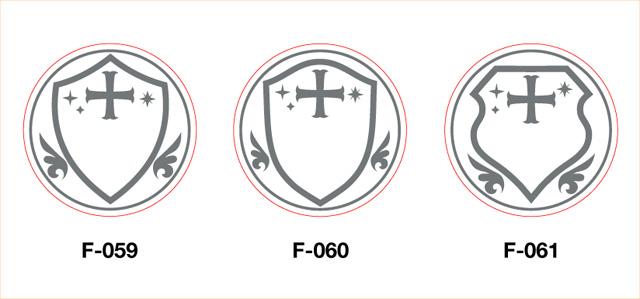 オリジナル・シーリングスタンプのフレームデザイン